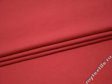 Костюмная красная ткань хлопок эластан ВЕ53