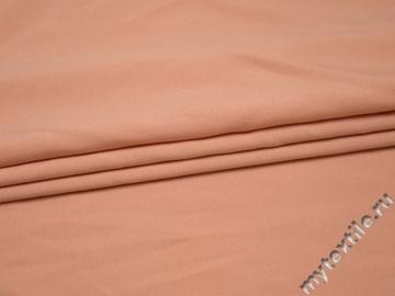Костюмная персиковая ткань полиэстер эластан ВЕ56