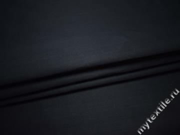 Костюмная тёмно-синяя ткань полиэстер  ВД528