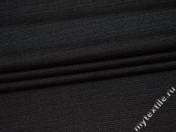 Костюмная темно-серая ткань полоска хлопок полиэстер эластан ВД511