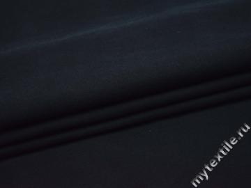 Костюмная тёмно-синяя ткань хлопок шерсть ГД422