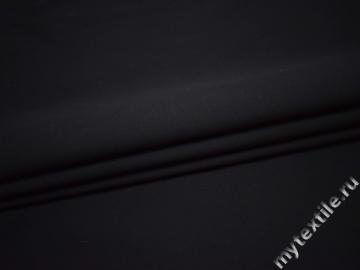 Костюмная тёмно-синяя ткань хлопок эластан ВД538