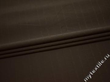 Костюмная фактурная коричневая ткань полиэстер эластан ГГ442