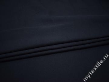 Костюмная тёмно-синяя ткань хлопок ГГ443