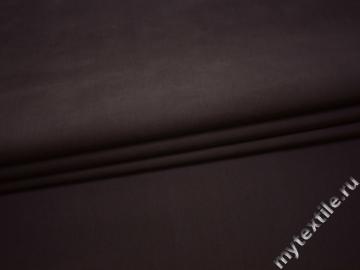 Костюмная сиренево-коричневая ткань хлопок эластан ГГ444