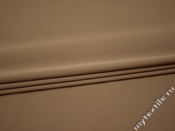 Костюмная бежевая ткань полиэстер эластан ГГ435