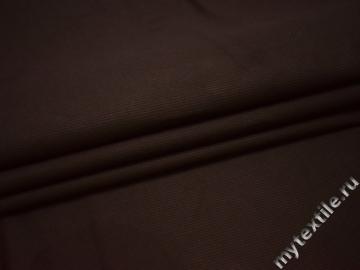 Костюмная фактурная коричневая ткань хлопок ВЕ321