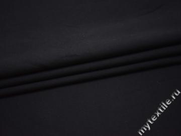 Костюмная тёмно-синяя ткань хлопок эластан ВЕ347