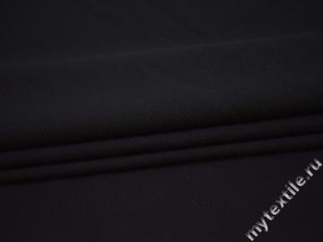 Костюмная фактурная черная ткань вискоза эластан ВЕ239