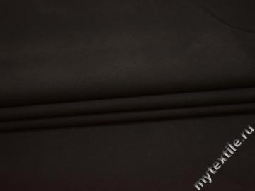 Костюмная коричневая ткань полиэстер эластан  ВЕ38