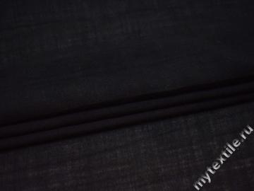 Костюмный черный шёлк с полиэстером ГЕ468