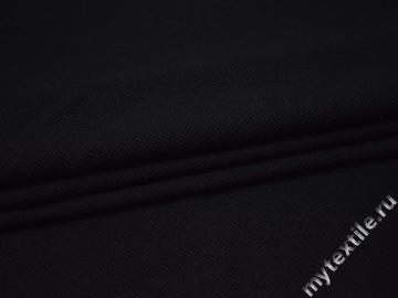 Костюмный черный шёлк с полиэстером ГД434