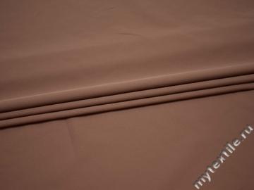 Костюмная коричневая ткань полиэстер ГГ410