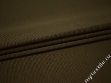 Костюмная цвета хаки полиэстер эластан  ГГ427