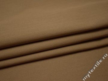 Костюмная фактурная бежевая ткань хлопок ВЕ438