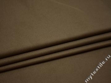 Костюмная бежевая ткань хлопок ВЕ430