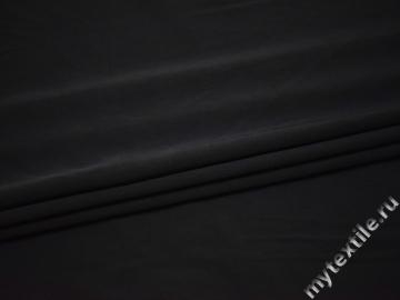 Костюмная черная ткань полиэстер ВЕ423