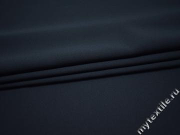 Костюмная синяя ткань вискоза полиэстер ВД136