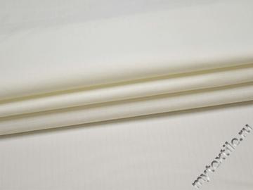Костюмная белая ткань хлопок эластан ВД150
