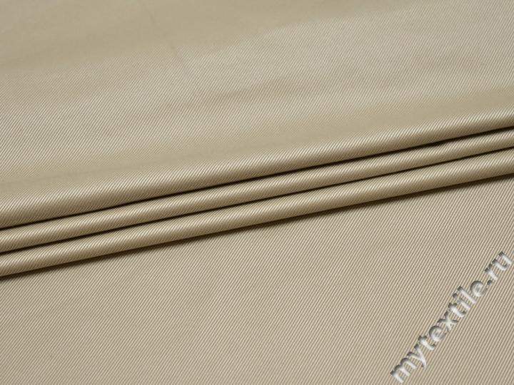 Костюмная бежевая фактурная ткань полиэстер ВД11