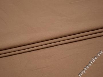 Костюмная бежевая ткань хлопок эластан ВД14