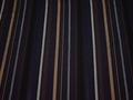 Костюмная тёмно-синяя ткань полоска вискоза ВД111
