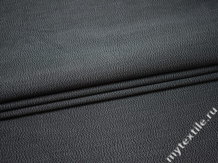 Костюмная синяя ткань хлопок полиэстер ВД120