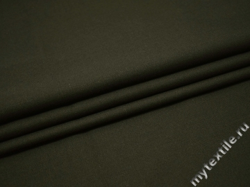 Костюмная зеленая ткань шерсть полиэстер ГД241