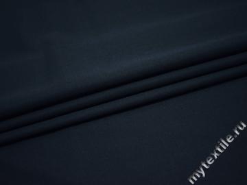 Костюмная темно-синяя ткань шерсть полиэстер ГД226
