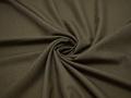 Костюмная цвета хаки ткань шерсть полиэстер ГД237
