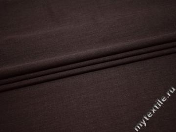 Костюмная коричневая ткань шерсть полиэстер ГД242