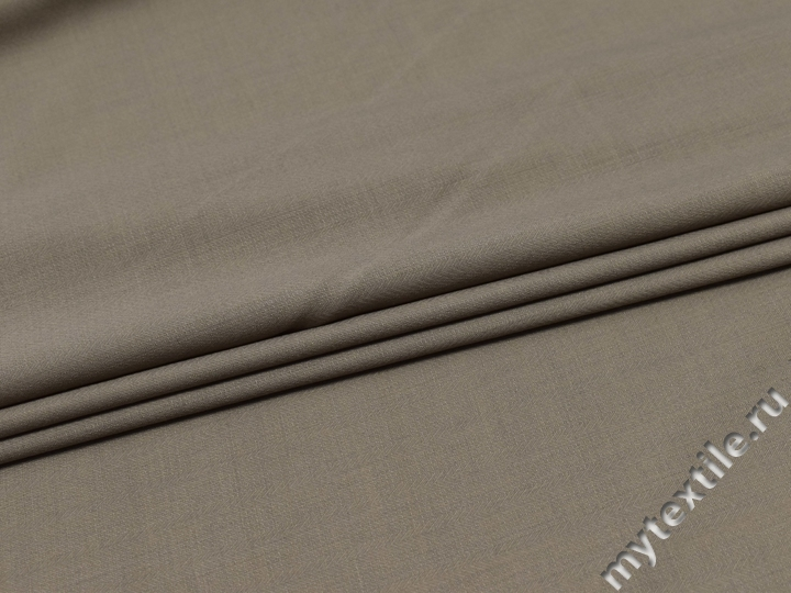 Костюмная светло-серая ткань шерсть полиэстер ГД220