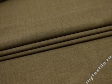 Костюмная бежевая ткань шерсть полиэстер ГД257