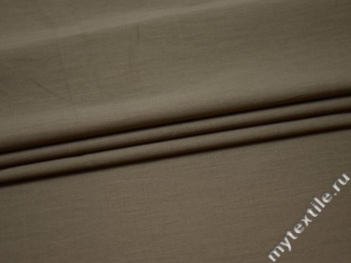 Костюмная серая ткань хлопок полиэстер ВГ567