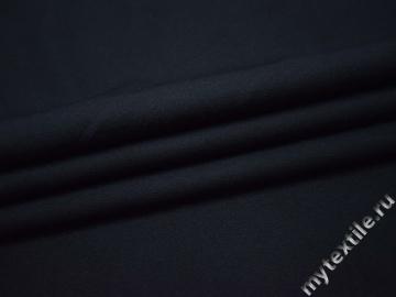Костюмная синяя ткань полиэстер эластан ВГ474