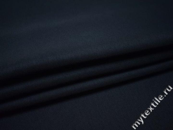 Костюмная синяя ткань полиэстер ВГ467