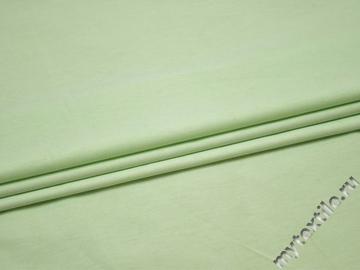 Костюмная зеленая ткань хлопок полиэстер ВД329