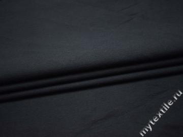 Костюмная синяя ткань хлопок эластан ВД331