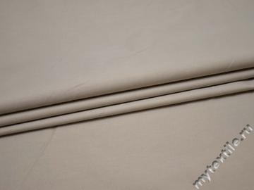 Костюмная бежевая ткань вискоза полиэстер эластан ВД323