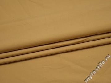 Костюмная бежевая ткань хлопок ВД314