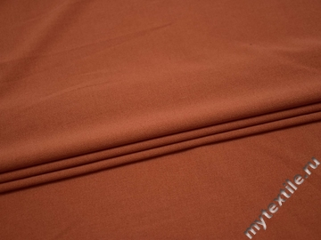 Костюмная оранжевая ткань вискоза полиэстер эластан ВД311