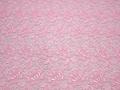 Кружево розовое полиэстер цветы БА534