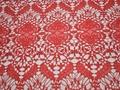 Кружево красное полиэстер сердечки БА528