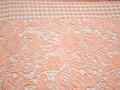 Кружево персиковое полиэстер цветы БА545