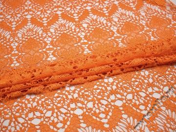 Кружево оранжевое полиэстер сердечки БА555