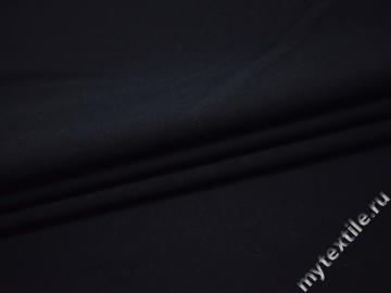 Костюмная темно-синяя ткань шелк полиэстер ГД11