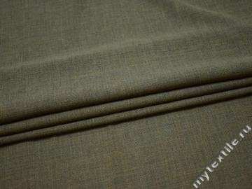 Костюмная зеленая ткань шелк ГД131