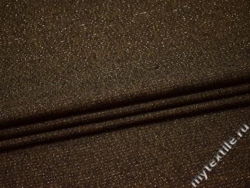 Костюмная коричневая ткань полиэстер ГД121