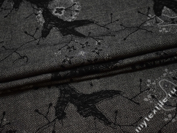 Костюмная ткань зигзаг узор шерсть полиэстер ГД119