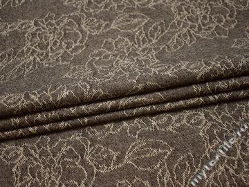 Костюмная ткань цветы шерсть полиэстер ГД114